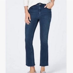 J. Jill Women's Kick-Flare Raw Hem Ankle Jeans